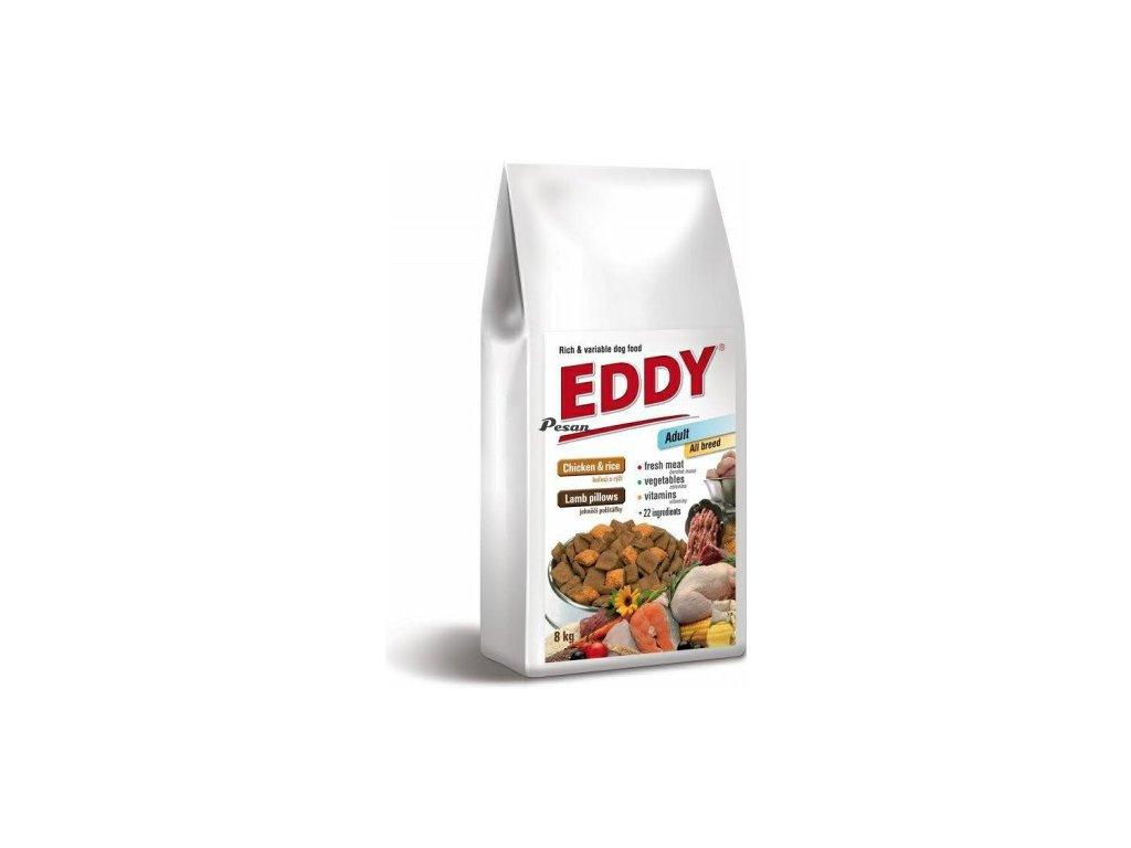 EDDY Adult All Breed kuřecí polštářky s jehněčím 8 kg