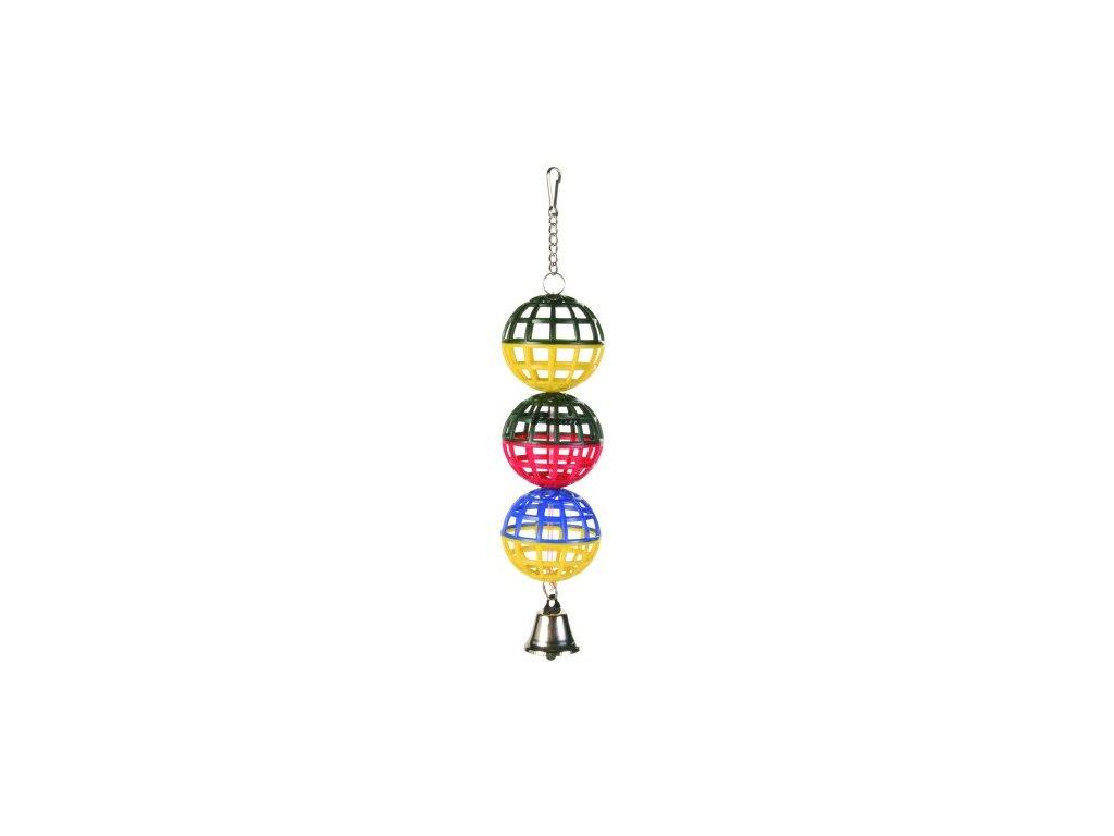Tři koule se zvonečkem 16 cm