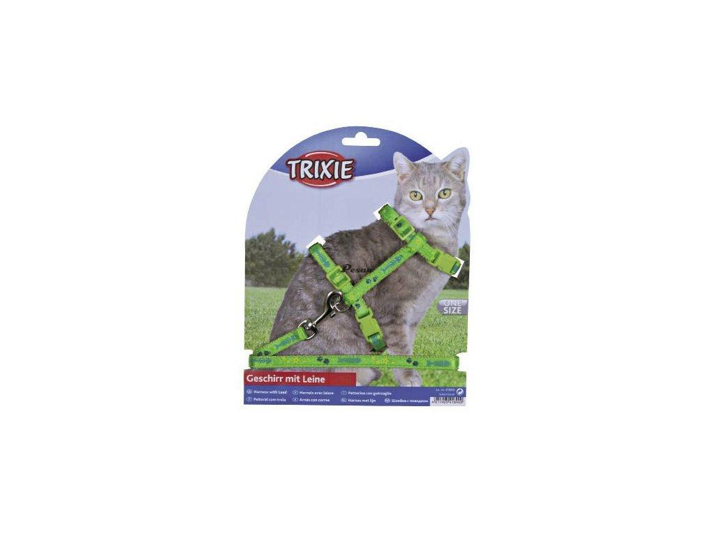 Postroj s vodítkem na kočku 22-36 cm