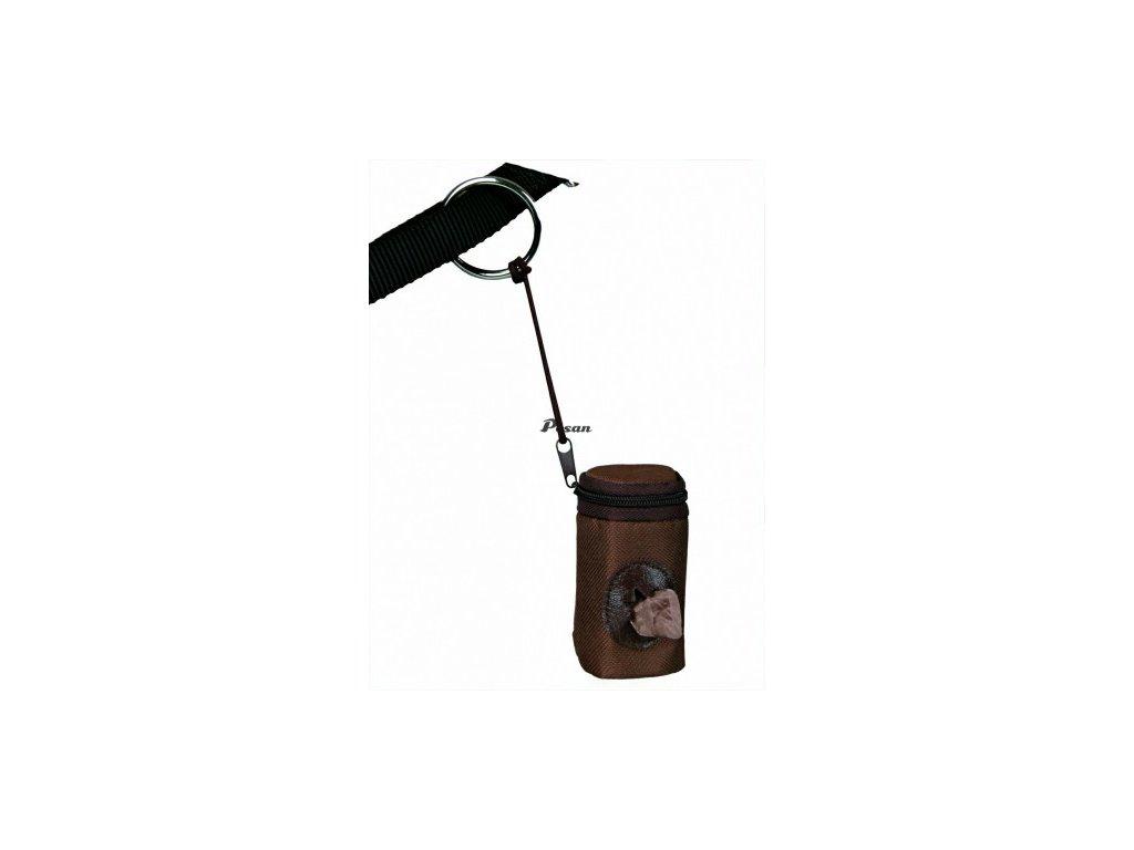 Nylonový zásobník hnědý se zipem+BIO sáč