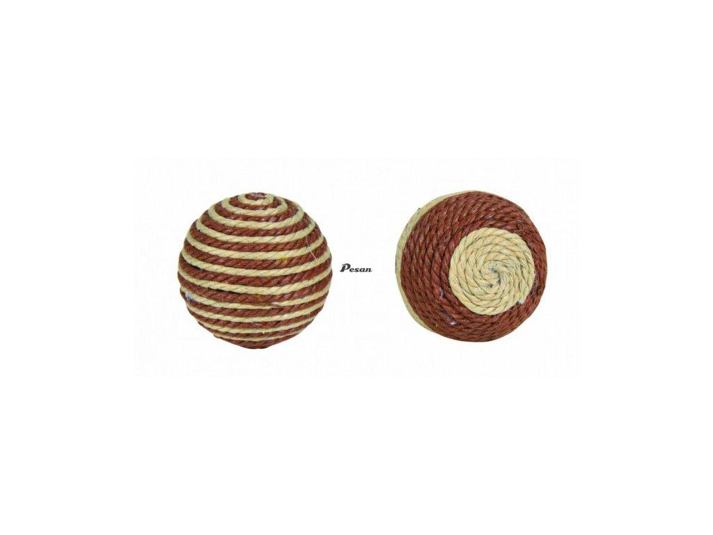 Provázkové míčky 4,5 cm hnědo/béžové