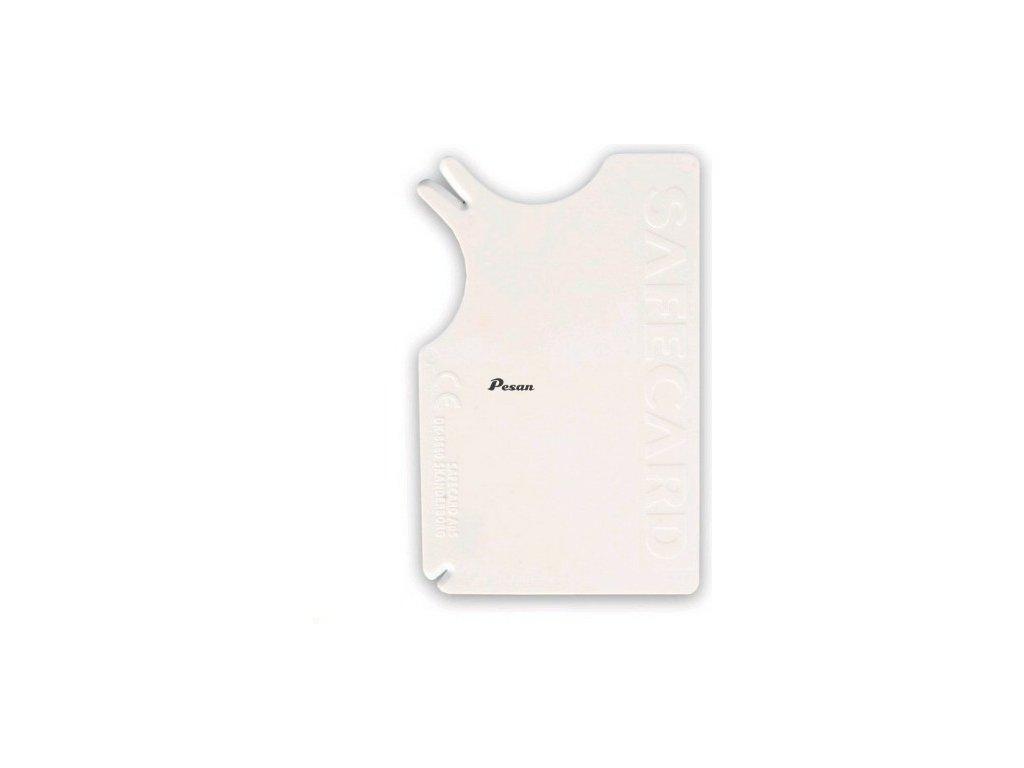 SAFECARD plast.kart.na vytah.klíšťat 8x5