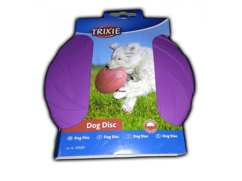 Hračka pes Létající talíř MINI Mix barev 15 cm TR 1ks