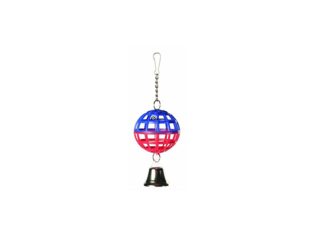 Závěsná koule na řetízku se zvonečkem 7cm TRIXIE