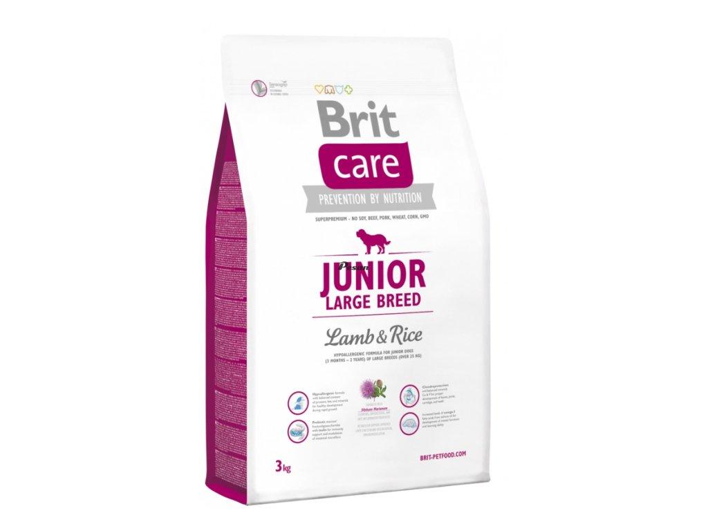 Brit Care Dog Junior Large Breed Lamb & Rice 3 kg