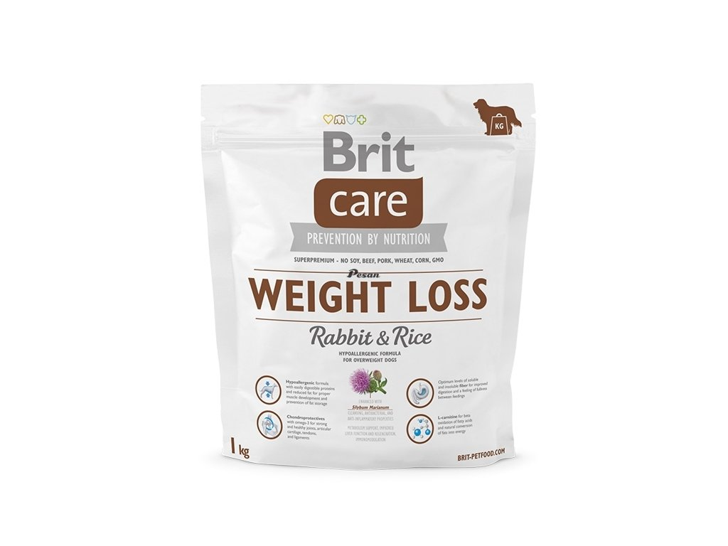 Brit Care Dog Weight Loss Rabbit & Rice 1 kg