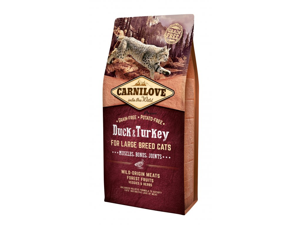 Carnilove Cat Duck & Turkey for Large Breed – Muscles, Bones, Joints 6 kg