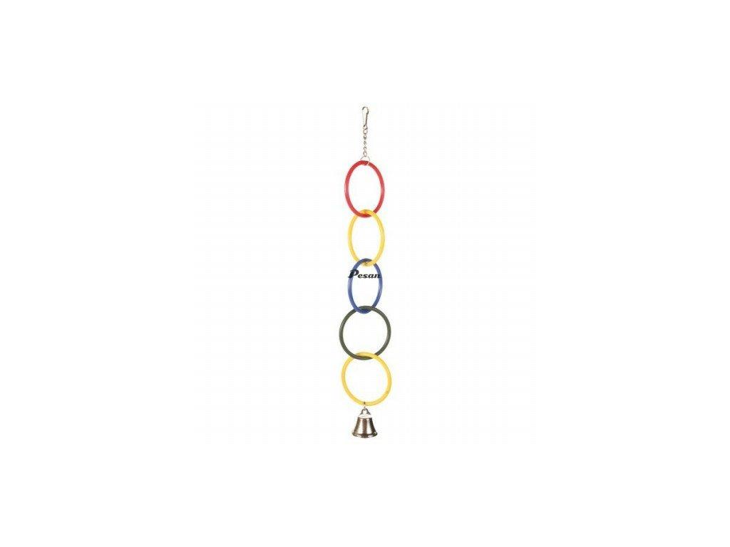 Olympijské kruhy se zvonečkem 25 cm Trixi