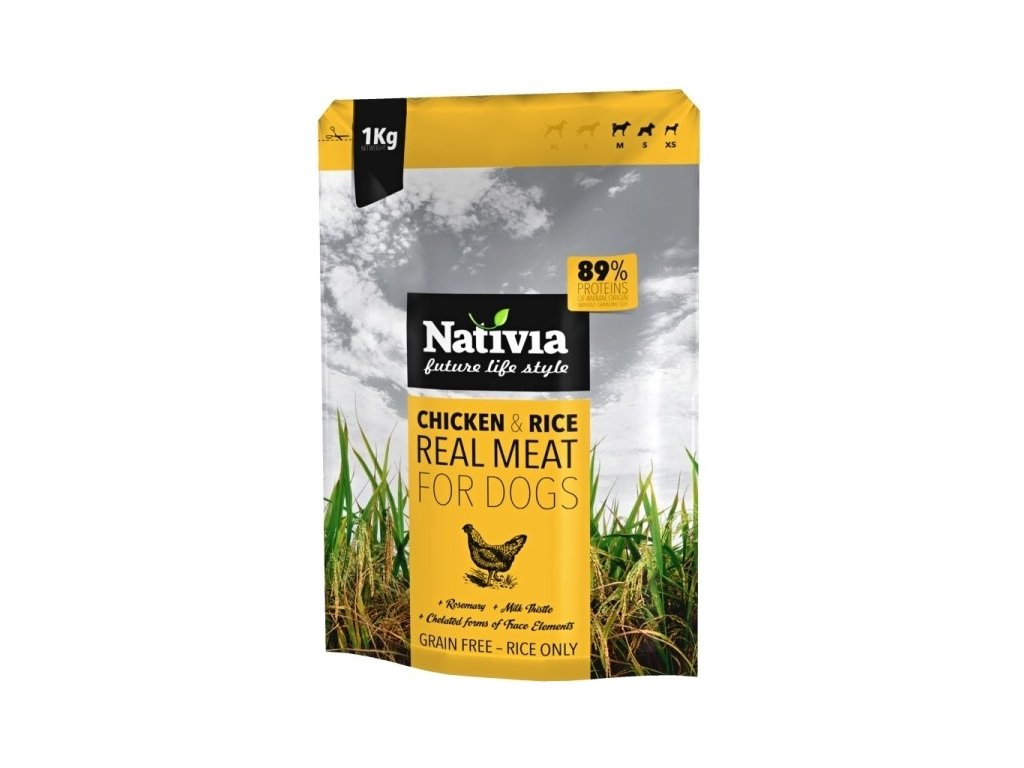 Nativia Real Meat Chicken & rice 1 kg