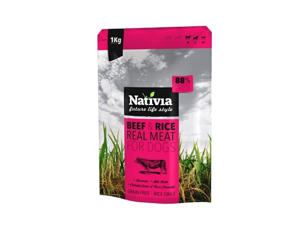 Nativia Real Meat beef & rice 1 kg