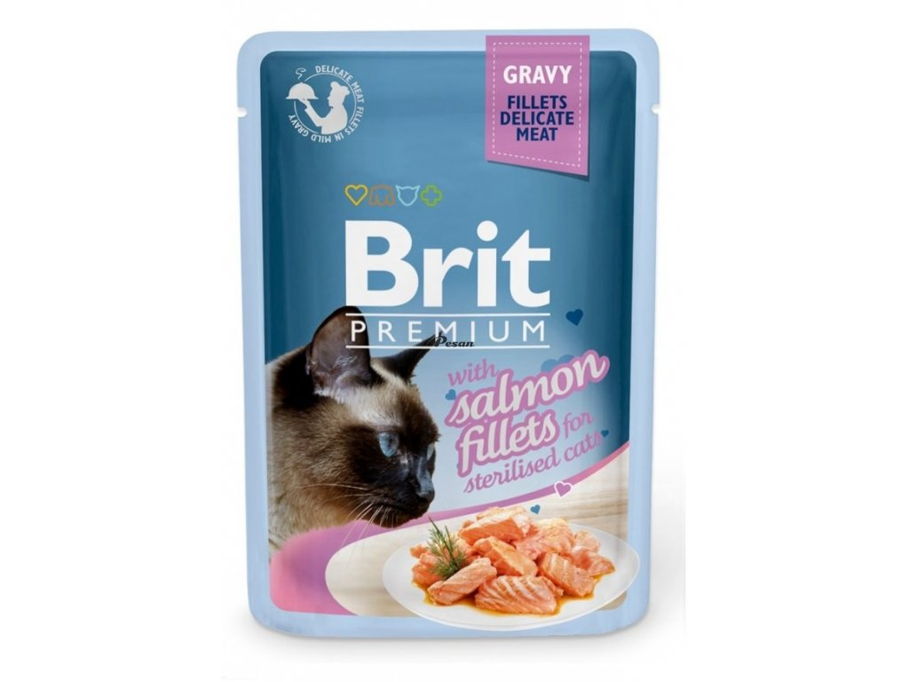 Brit Premium Cat Delicate Fillets in Gravy with Salmon for Sterilised 85 g