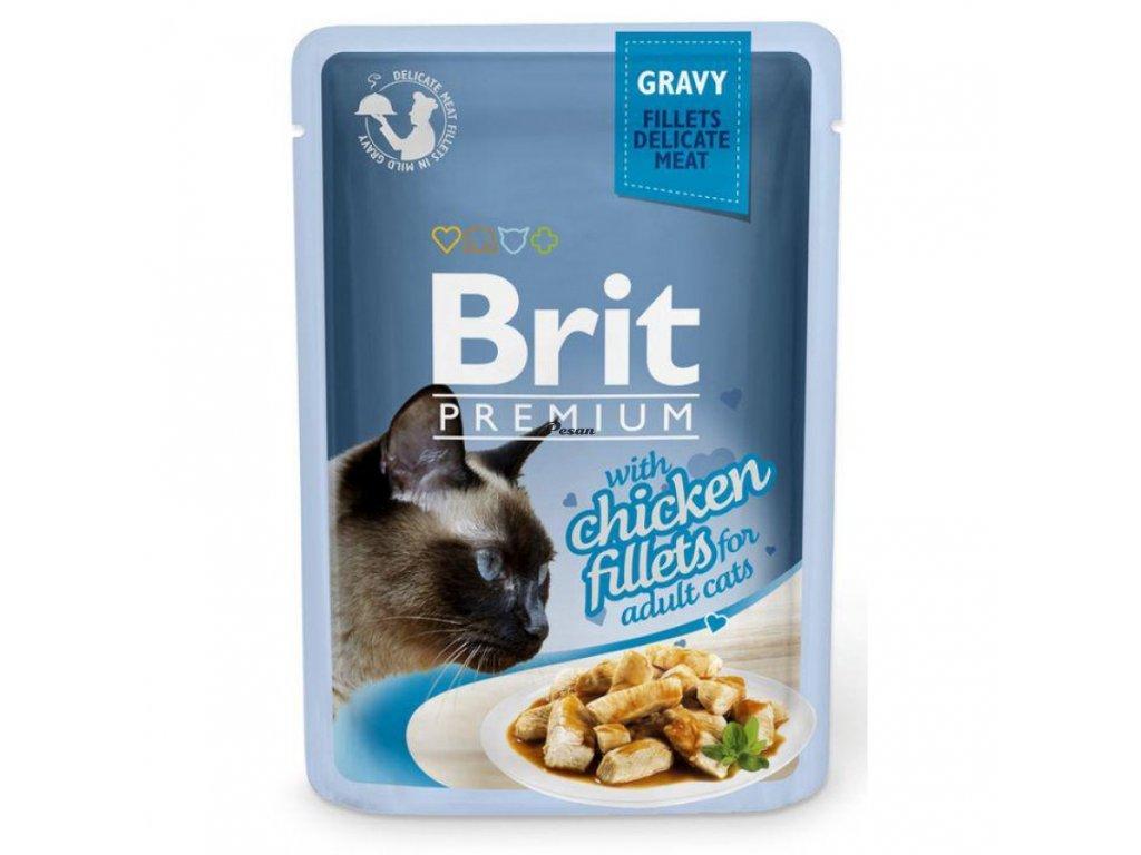 Brit Premium Cat Delicate Fillets in Gravy with Chicken 85 g
