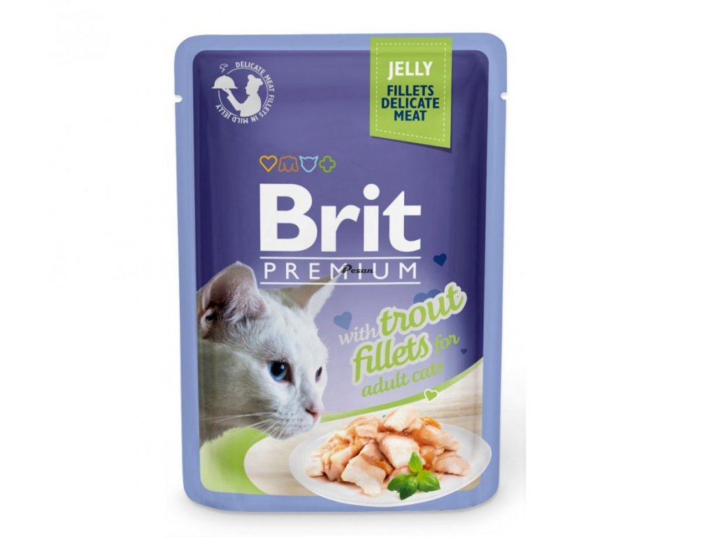 Brit Premium Cat Delicate Fillets in Jelly with Trout 85 g