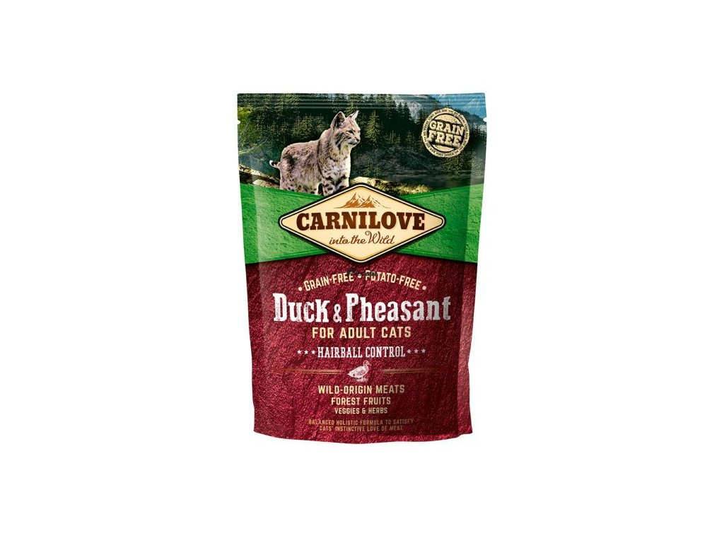 carnilove duck pheasant for adult cats hairball control [2] 7741 p