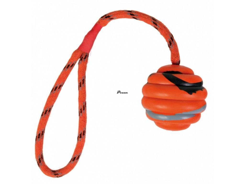 Vrhací vlnitý míč na šnůře 6 cm/30cm