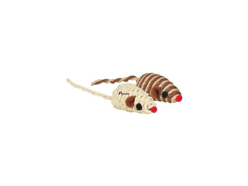 Sisalové myšky malé barevné 5 cm