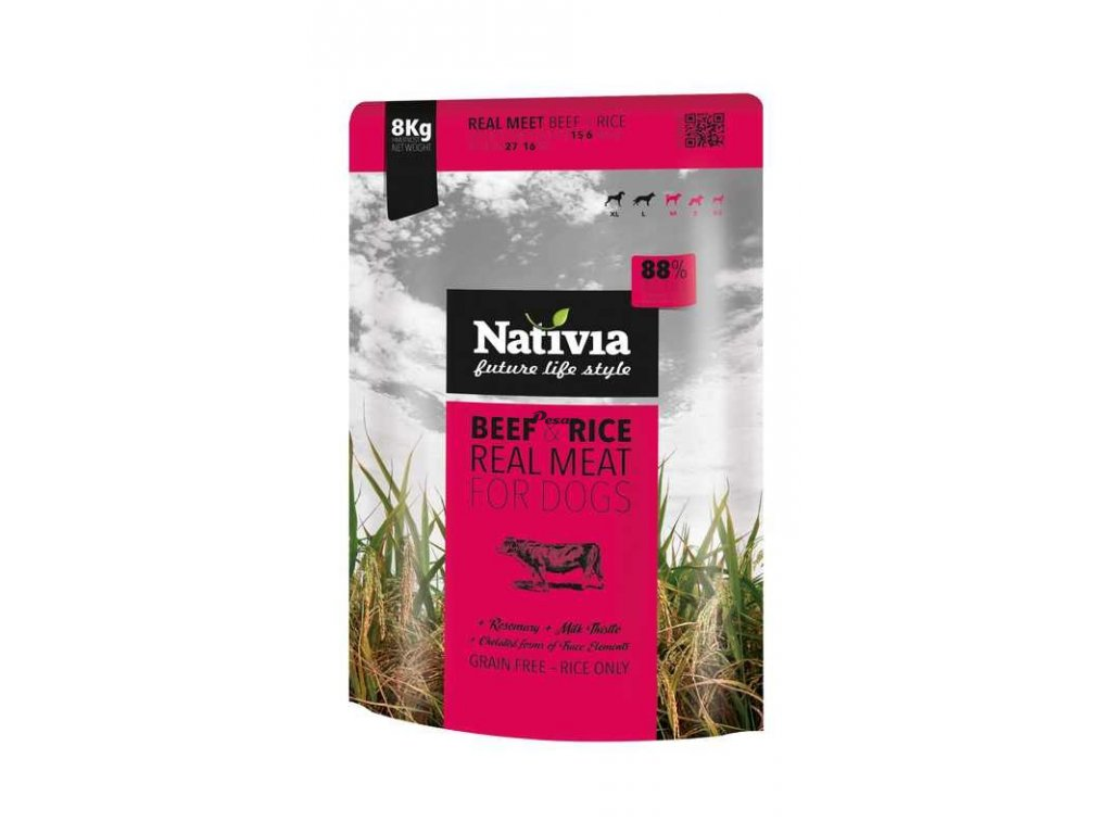 Nativia Real Meat Beef & Rice 8 kg