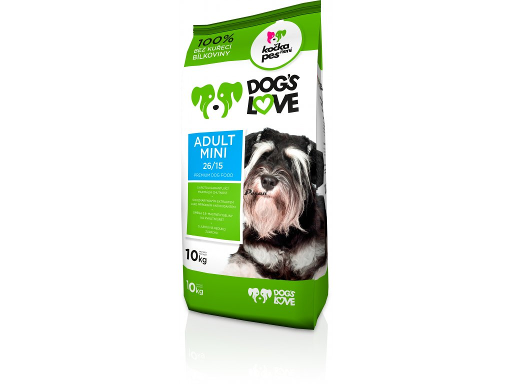 dogs love mini adult 10kg 2
