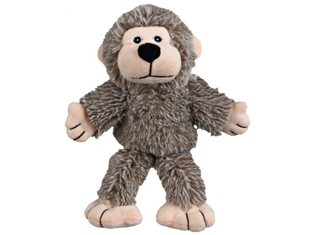 Plyšová opička se zvukem, šedá 24cm