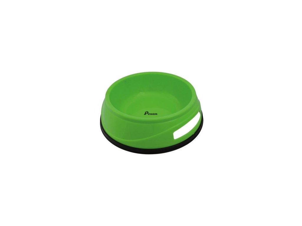 Plastová HEAVY miska 0.75l/16 cm s gumovým okrajem