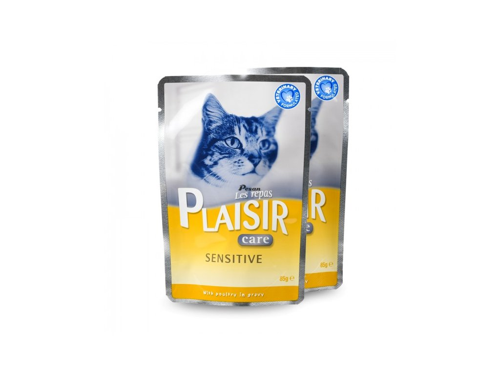 Plaisir Care Cat Kapsička Sensitive 85G