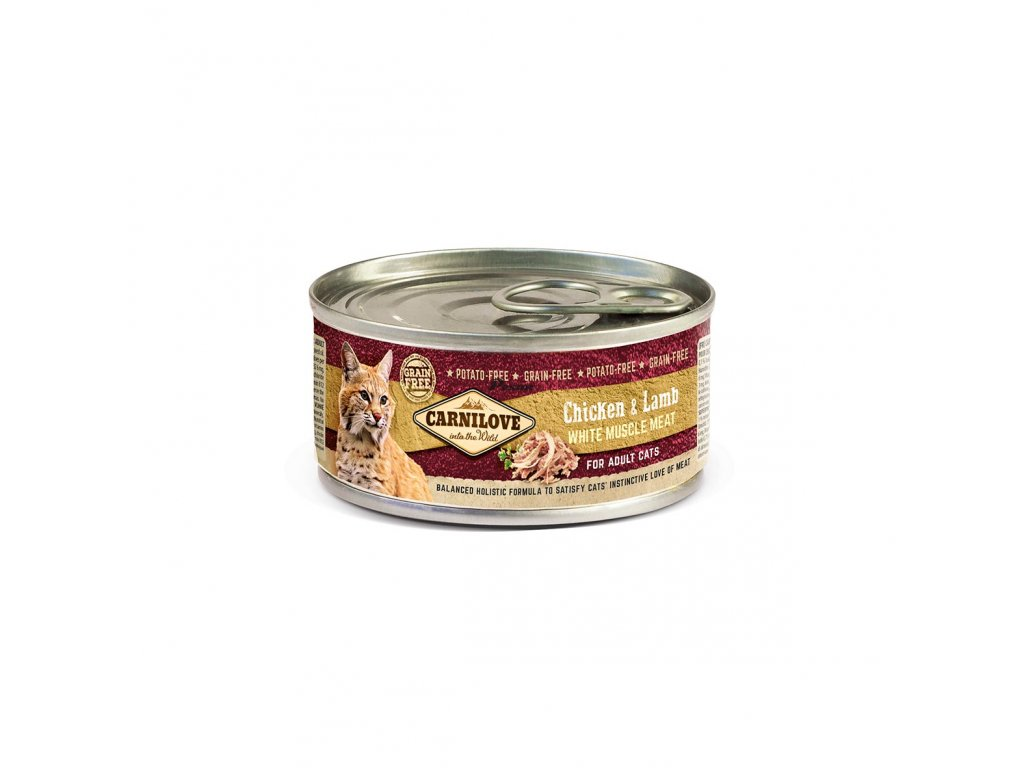 Carnilove White Muscle Meat Chicken & Lamb for Adult Cats 100g