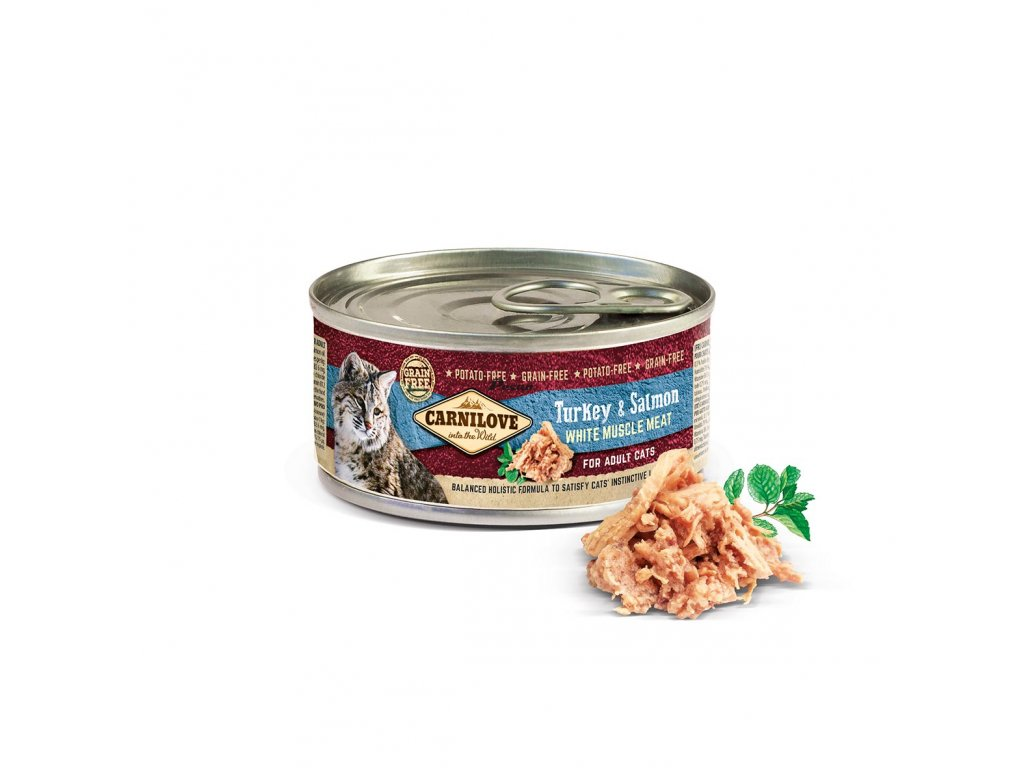 Carnilove White Muscle Meat Turkey & Salmon for Adult Cats 100g