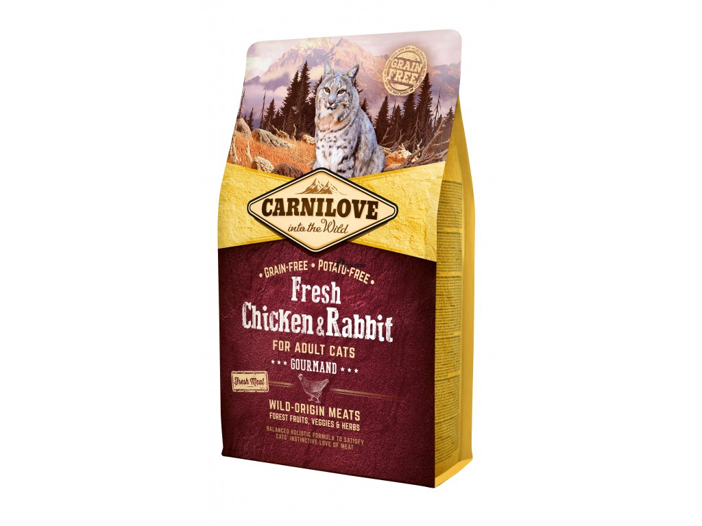 Carnilove Fresh Chicken & Rabbit Gourmand for Adult cats 2 kg