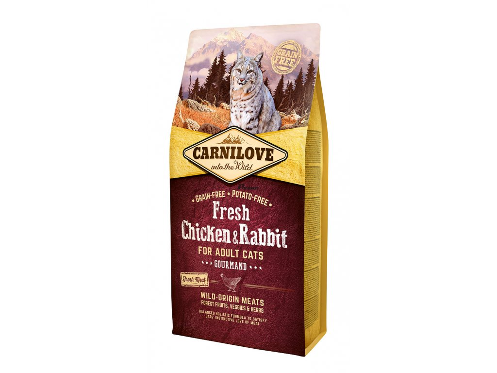 Carnilove Fresh Chicken & Rabbit Gourmand for Adult cats 6 kg