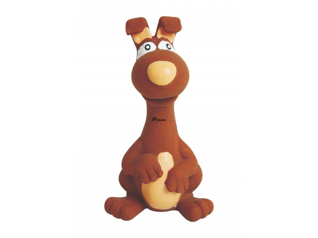 Latexová hračka se skutečným zvukem-Zvíře hnědé15cm-14102