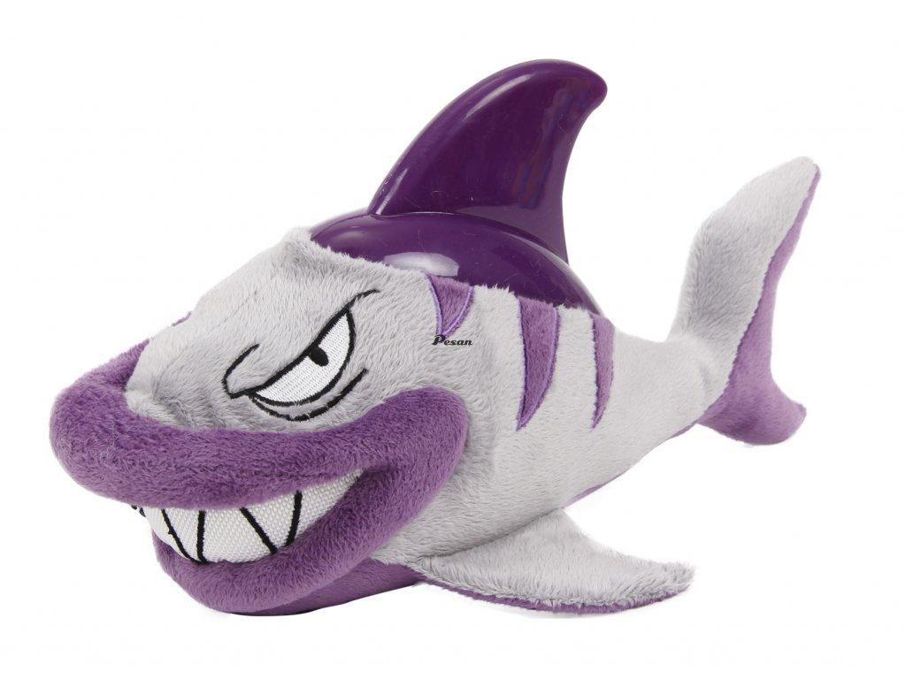 Plyšová hračka s termoplastickou gumou-Žralok 31x17cm-14094