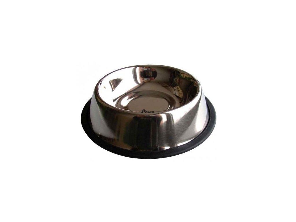 Nerezová miska stabilizační s gumou 0,7l  8.012