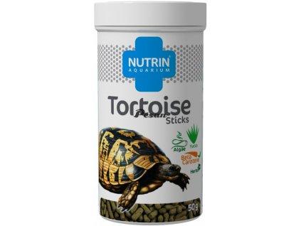 NUTRIN  Aquarium - TORTOISE STICKS 50g (250ml) - Kompletní krmivo pro suchozemské želvy.