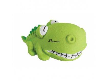 Mini krokodýl BigHead 9 cm, se zvukem, latex, HipHop zelená