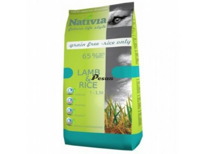 Nativia Dog Adult Lamb & Rice 15 kg NEW