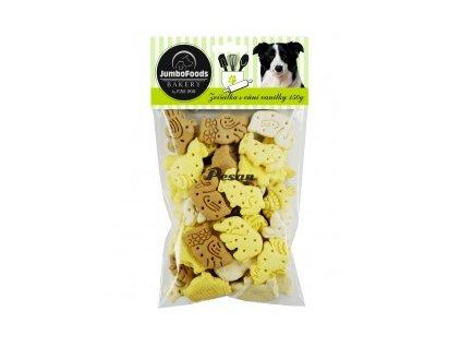FINE DOG Bakery Zvířátka Mix chutí s vůní vanilky 150g  7006