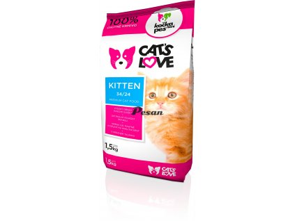 cats love kitten 1 5kg
