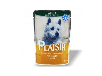 Plaisir Dog Kapsička 100g s Játry