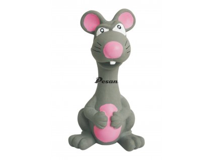 Latexová hračka se skutečným zvukem-Zvíře šedé15cm-14101