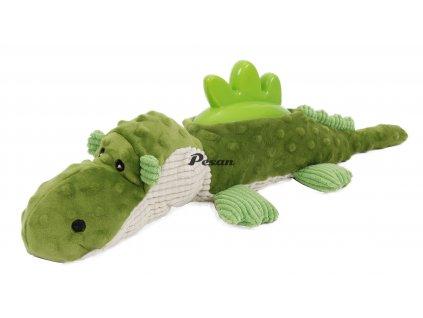 Plyšová hračka s termoplastickou gumou-Krokodýl 51x17cm-14092