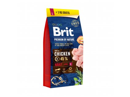Brit Premium by Nature Adult L 15+3 kg AKCE