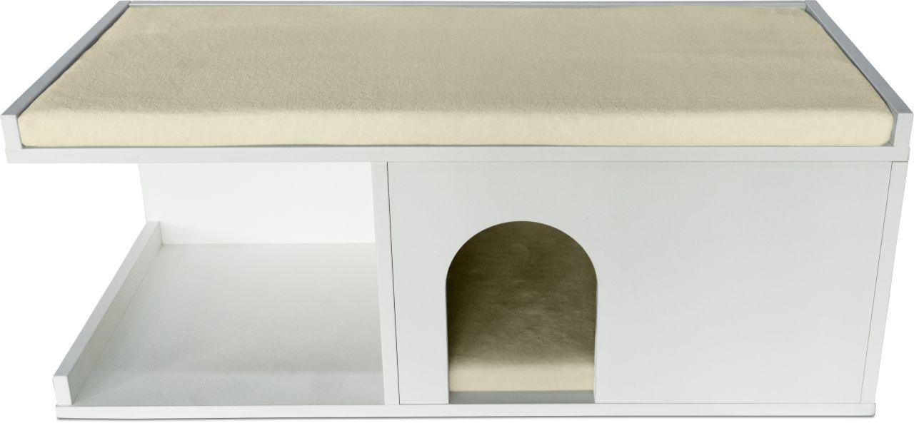 Psí bouda do bytu bílá Matrace: Béžová