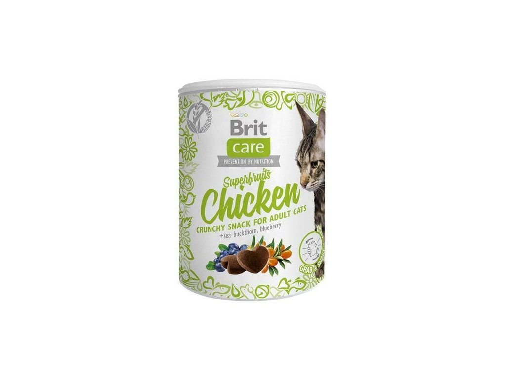 4617 brit care cat snack superfruits chicken 100g