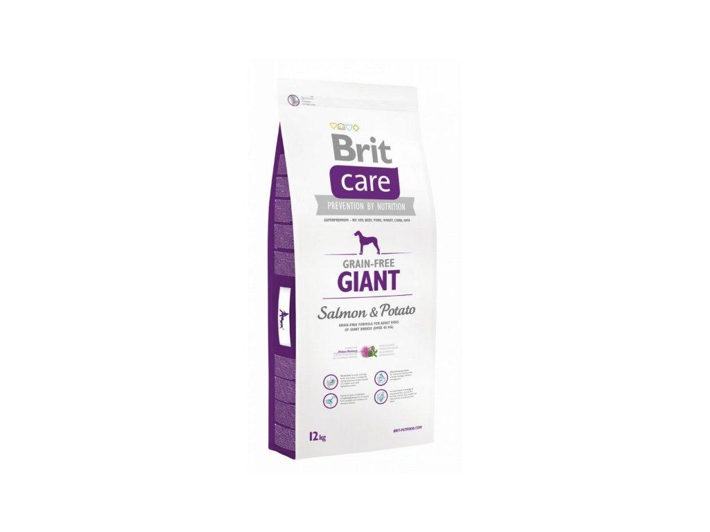 3585 brit care grain free giant salmon potato 12kg
