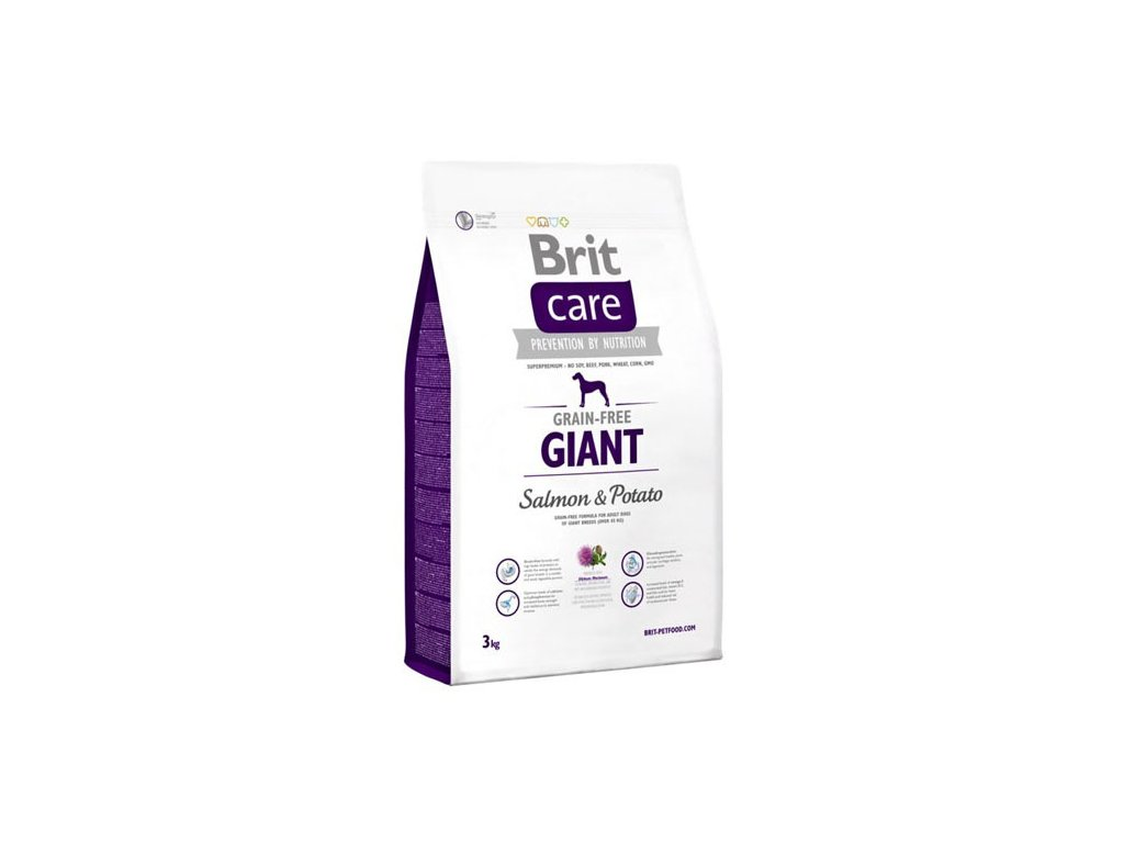 3588 brit care grain free giant salmon potato 3kg