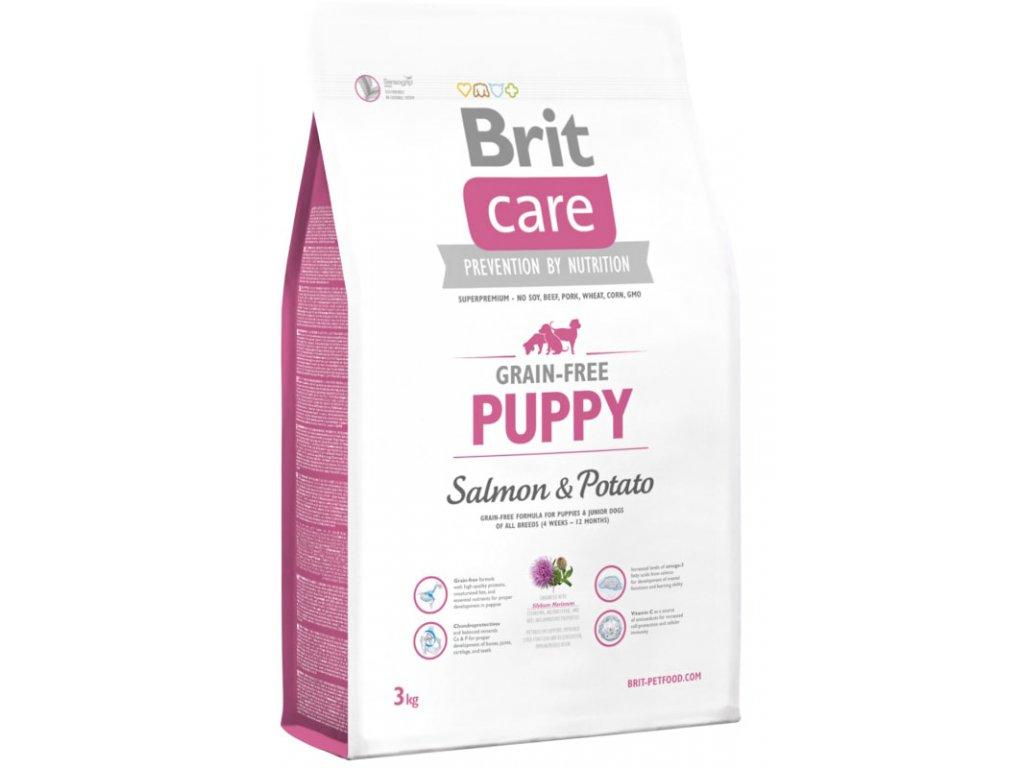3552 brit care grain free puppy salmon potato 3kg