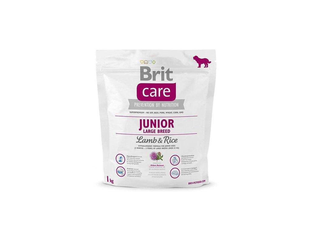 3510 brit care junior large breed lamb rice 1kg