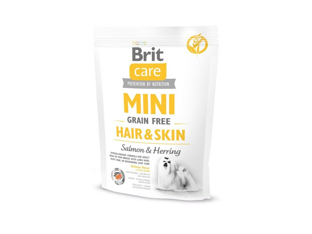 4704 brit care mini grain free hair skin 400g