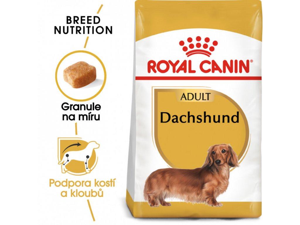 Dachshund Adult granule pro dospělého jezevčíka 1500g