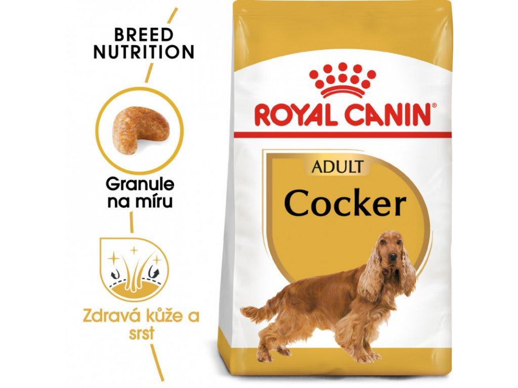 Cocker Adult granule pro dospělého kokršpaněla 3000g